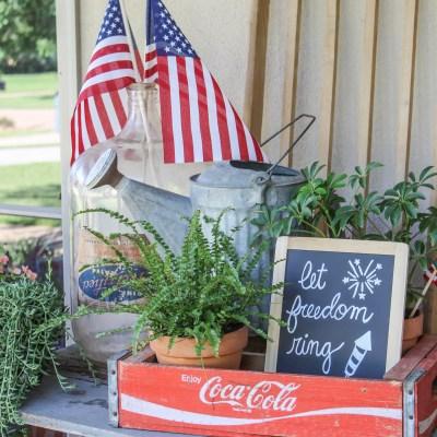 Vintage Patriotic Porch