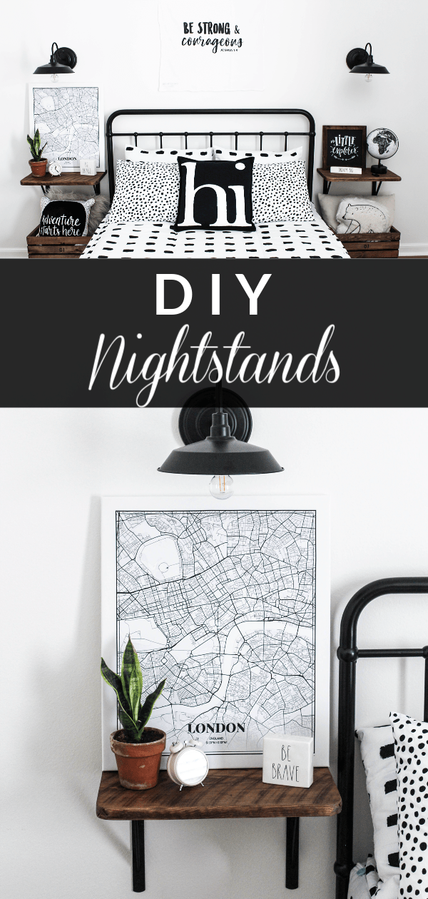 Learn how to make these simple DIY nightstands with a step by step tutorial. These are perfect for getting the fixer upper look on a budget.