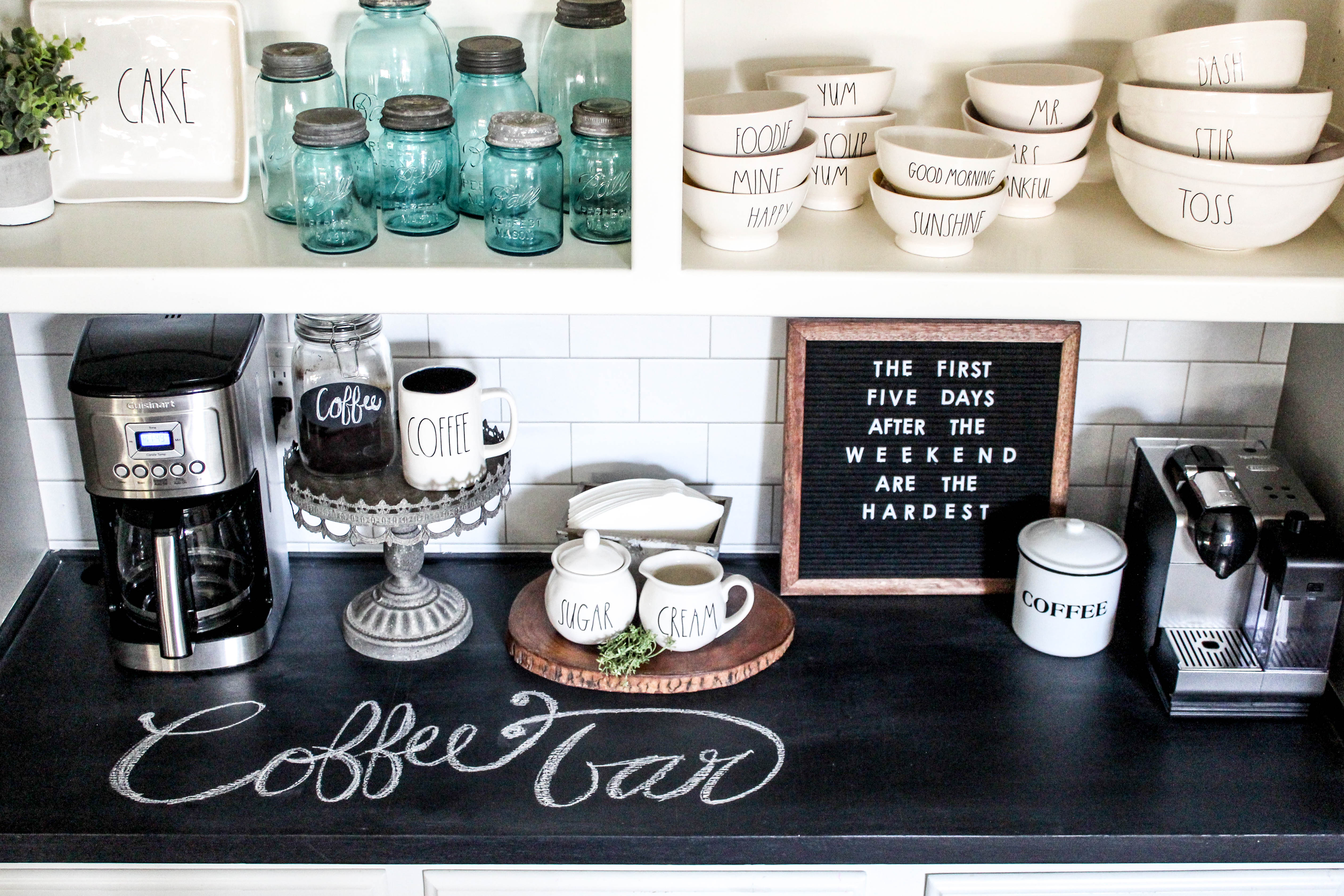 Quick & Easy Coffee Bar Makeover - Beauty For Ashes