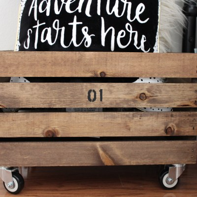 DIY Wood Crates: Vintage Makeover