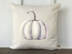 watercolor pumpkin pillow
