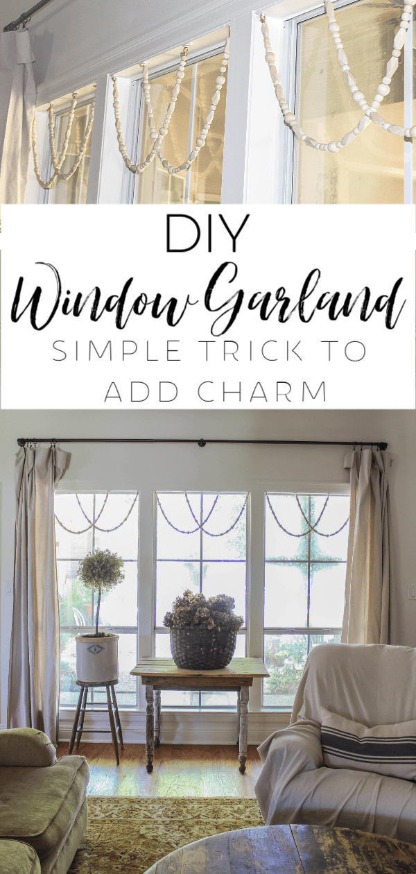 You won't believe what a difference this simple trick makes to your windows! This DIY window garland adds so much charm and character to your windows.