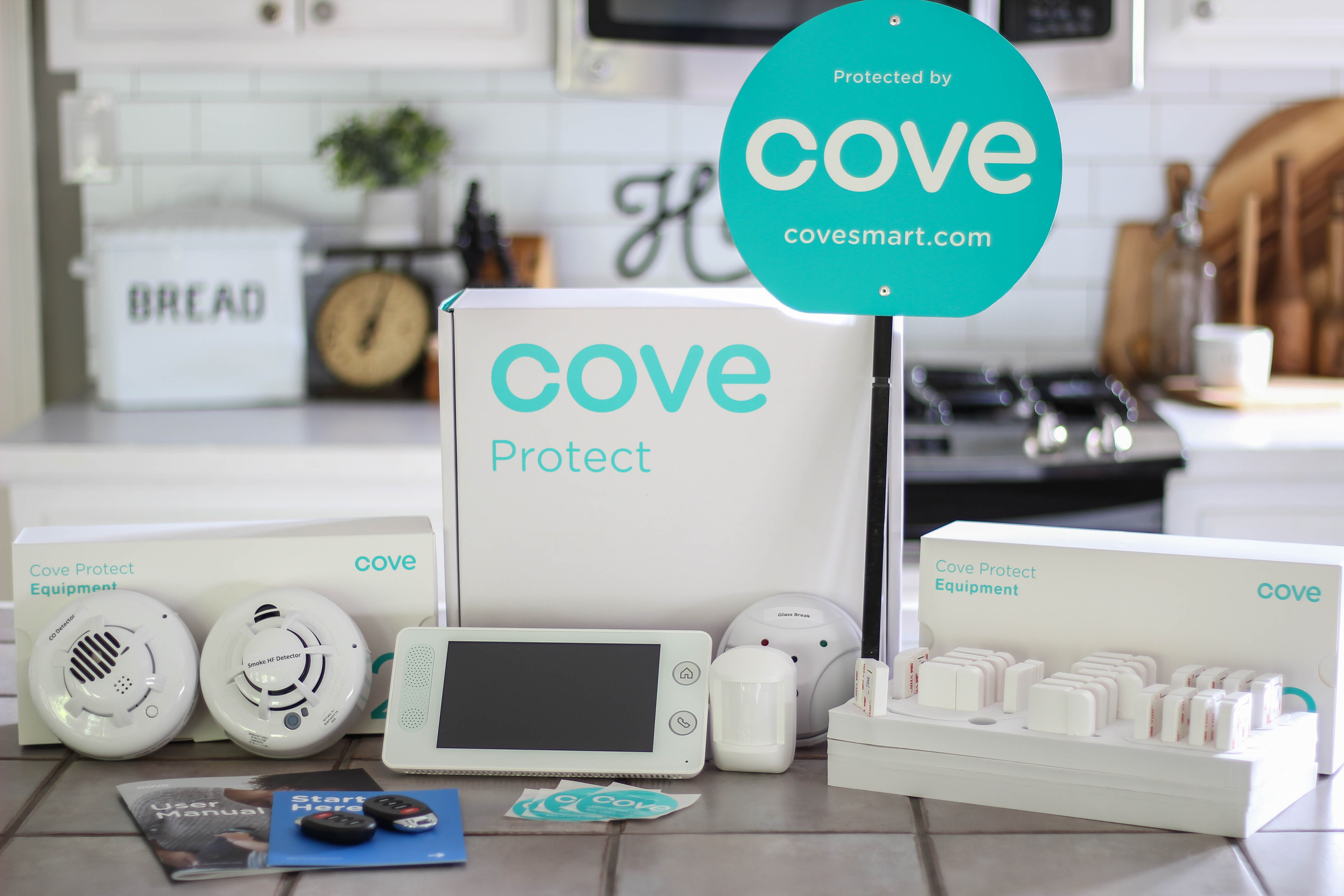 This DIY wireless home security system from Cove was so easy to install! In less than an hour, we set up a system to keep our family safe and protected.