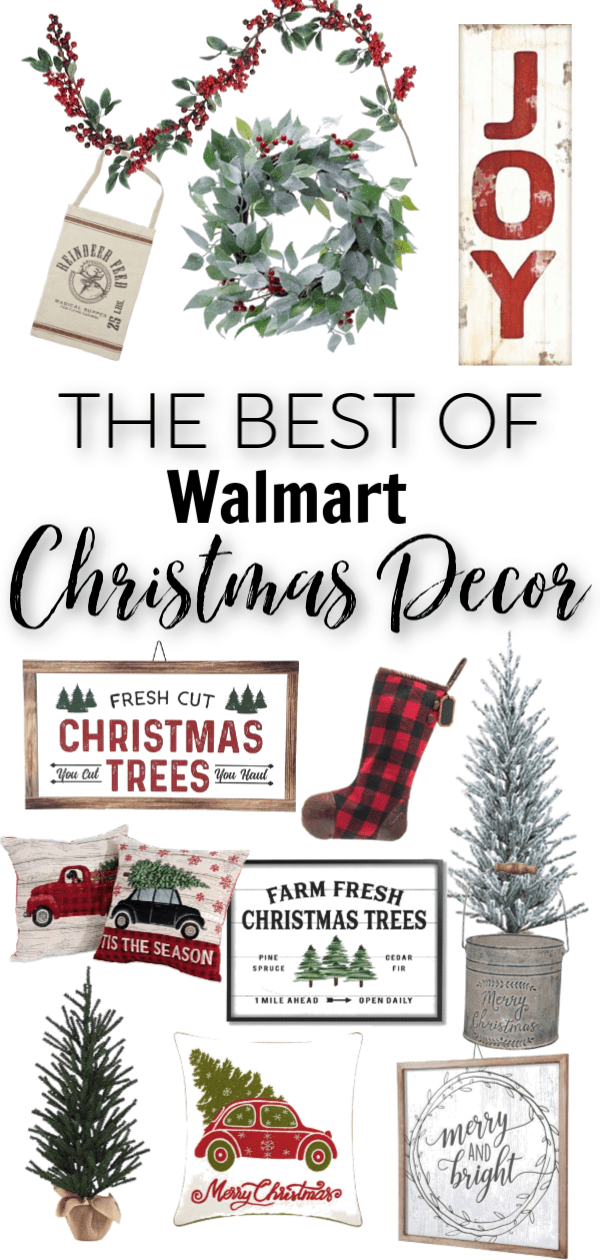 Walmart has really stepped up their game with budget friendly Christmas decor! I'm sharing some of my favorite farmhouse picks.