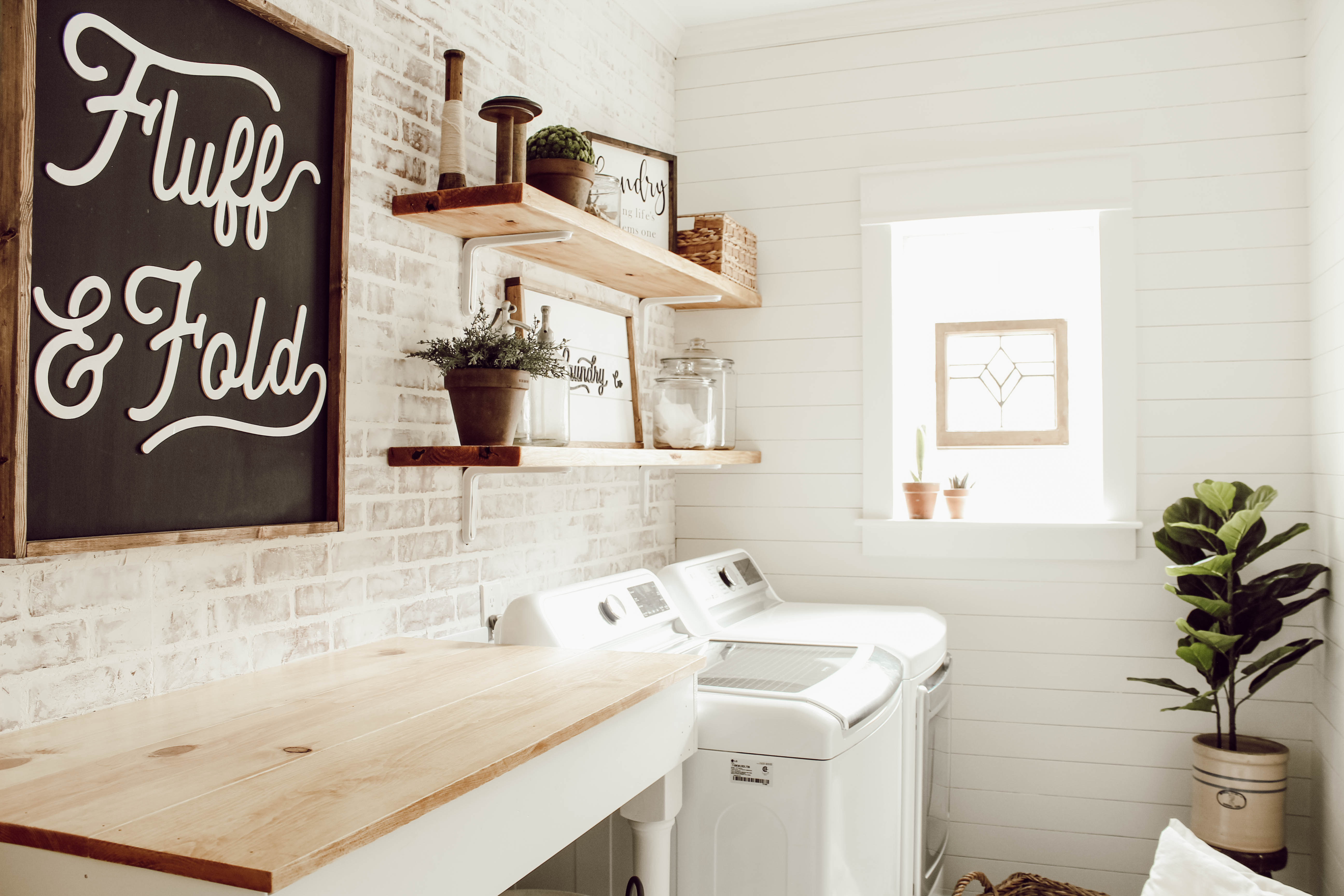 Learn how to install a DIY faux brick wall to instantly add tons of character to your space. This is a fairly simple DIY that can be done in a weekend.
