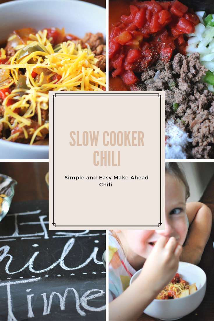A simply and easy chili recipe for the slow cooker. Fix it and forget it, this recipe is warming, soothing and good for all ages.