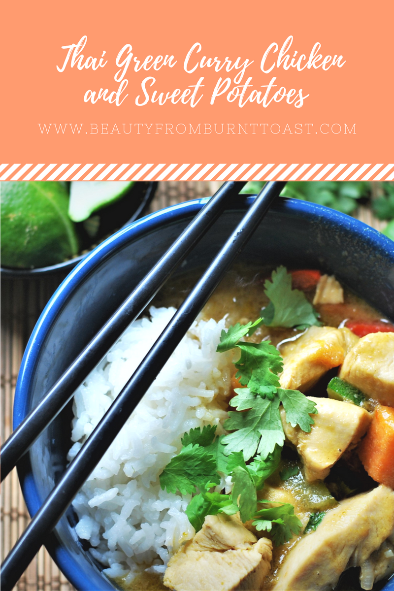 Thai Green Curry Chicken and Sweet Potato Pin