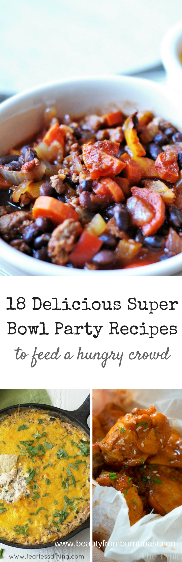 Hosting a Super Bowl Party or Attending a Pot Luck? Either way, we've got you covered. These 18 recipes are crowd-pleasing and sure to make your superfan friends happy, even if their team ends up on the losing side. #superbowl #partyfood #appetizers #recipes