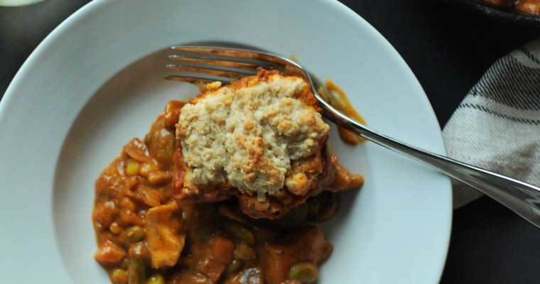 Easy Weeknight Curry with Coconut Cardamon Drop Biscuits