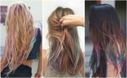 subtle rainbow highlights