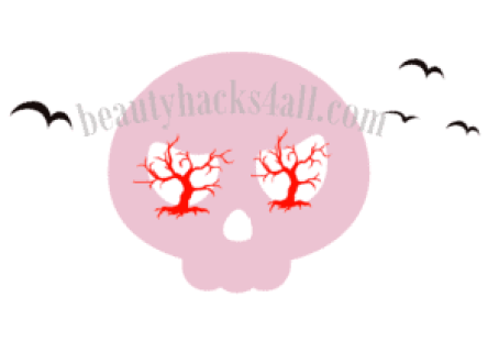 halloween pink skeleton makeup