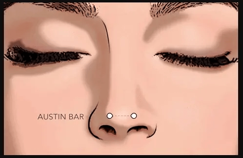 Austin bar nose piercing