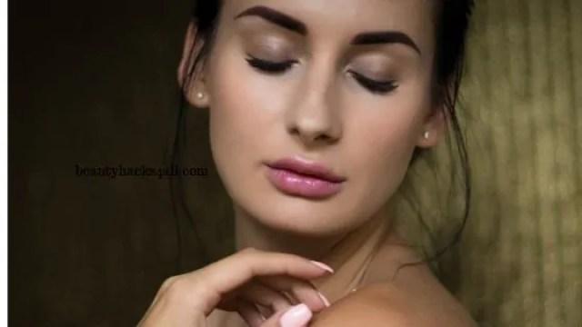 glowing oily skin