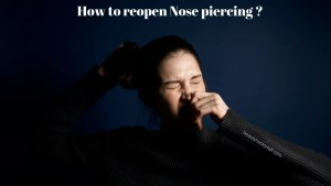 reopen nose piercing