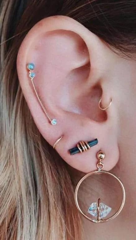 cute ear piercing for females