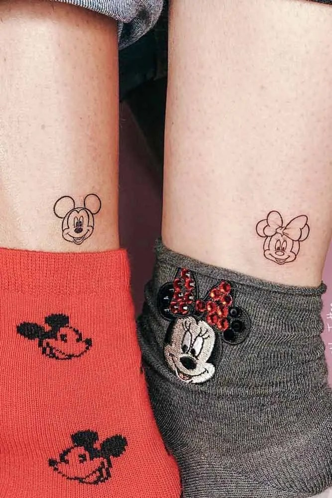 mickey minie couple tattoo