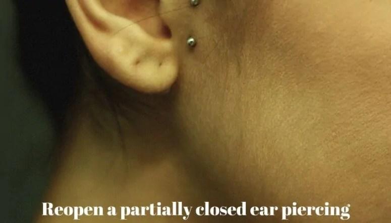 re pierce your ears
