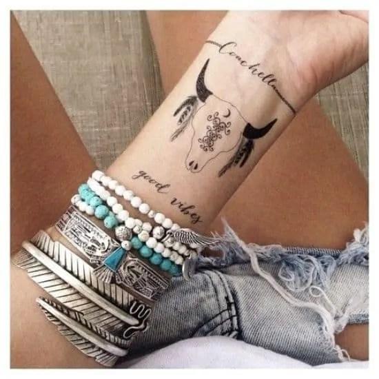 cluster wrist tattoo