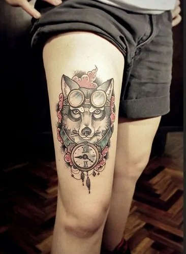 animal face tattoos