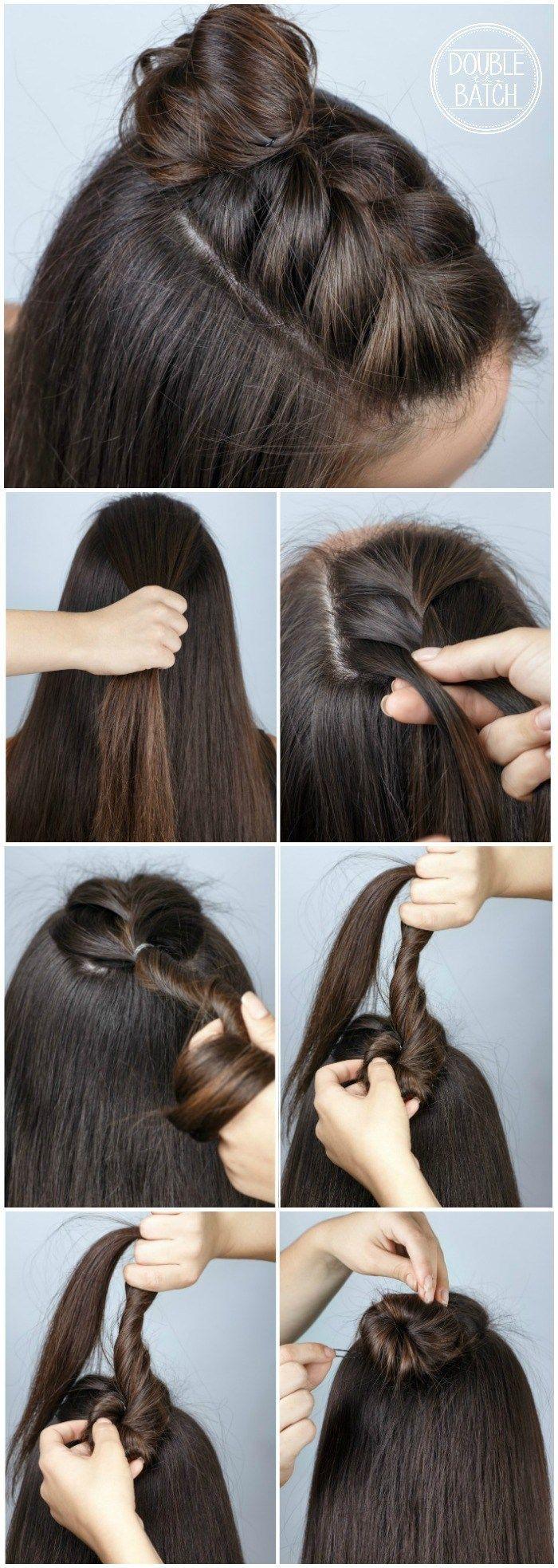 Easy Hair Ideas For School  braid bun  Beauty Haircut