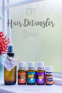 Hair care Ideas : DIY Hair Detangler & Curling Spray with ...