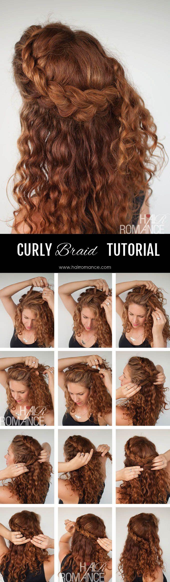 Hair Tutorials Curly Hair Tutorial The Half Up Braid Hairstyle Jpg