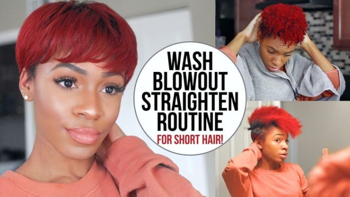 Short Haircuts Wash Blow Dry And Flat Iron Routine For Short