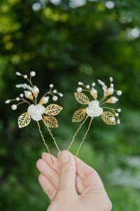 Bridal Hairstyles Inspiration : Wedding pearl hair pins ...