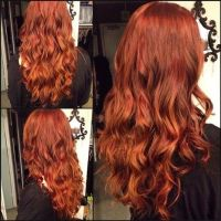 Red Hair Color : Rich warm red with copper highlights ...
