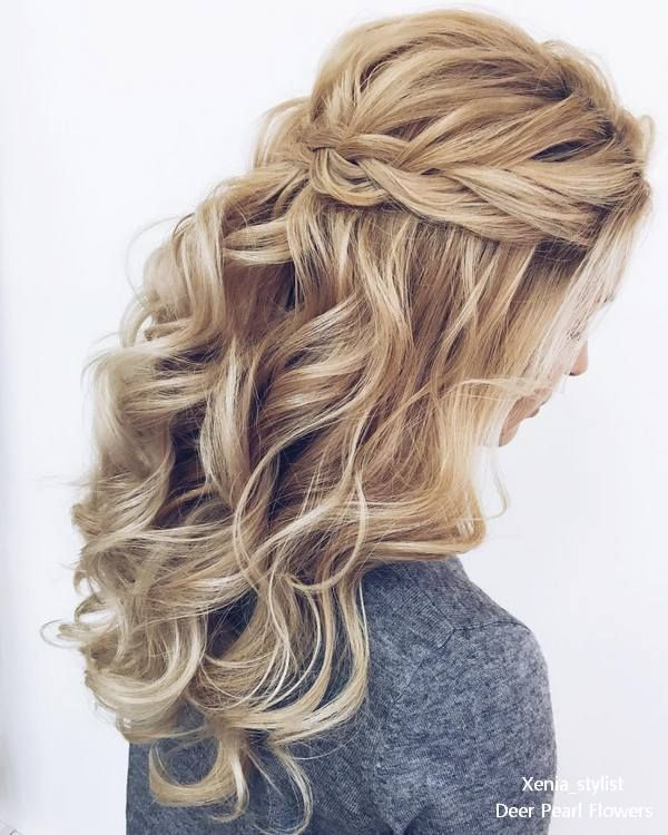 Wedding Hairstyles : Half up half down wedding hairstyles
