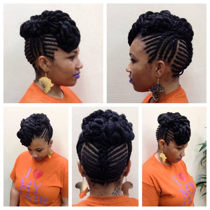 American And African Hair Braiding Natural Braided Undo Great