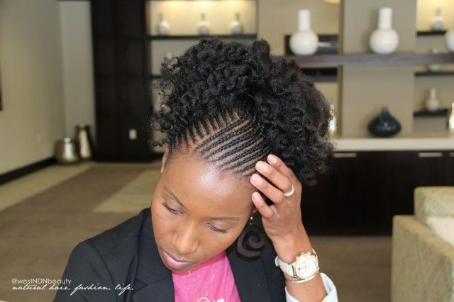 American And African Hair Braiding Natural Updo Hairstyles For
