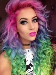 rainbow hairstyle ideas