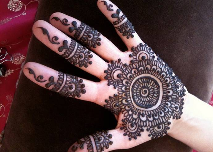 Mehandi Designs Easy And Simple Khafif