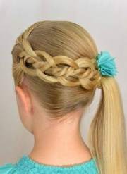 feather loop ladder braid waterfall