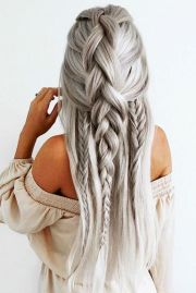 braids straight long hair