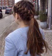 simple braided hairstyles thick
