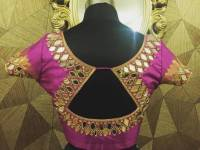 65+ Latest mirror work blouse designs 2019 for sarees ...
