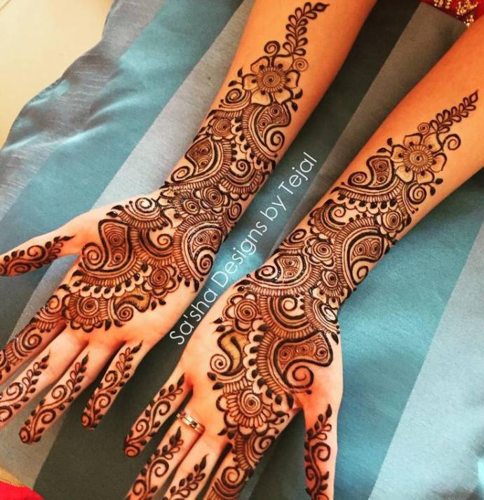 Full Hand Arabic Mehndi Design Latest