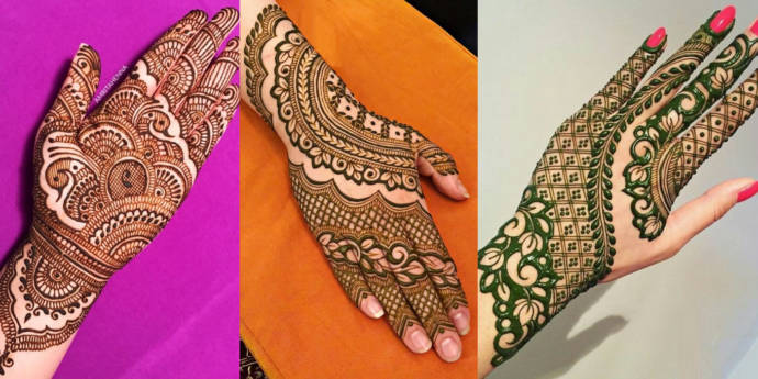 Simple Mehandi Design Images For Left Hand