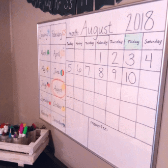 Preschool-2nd Grade Calendar Time | How to do it at home!