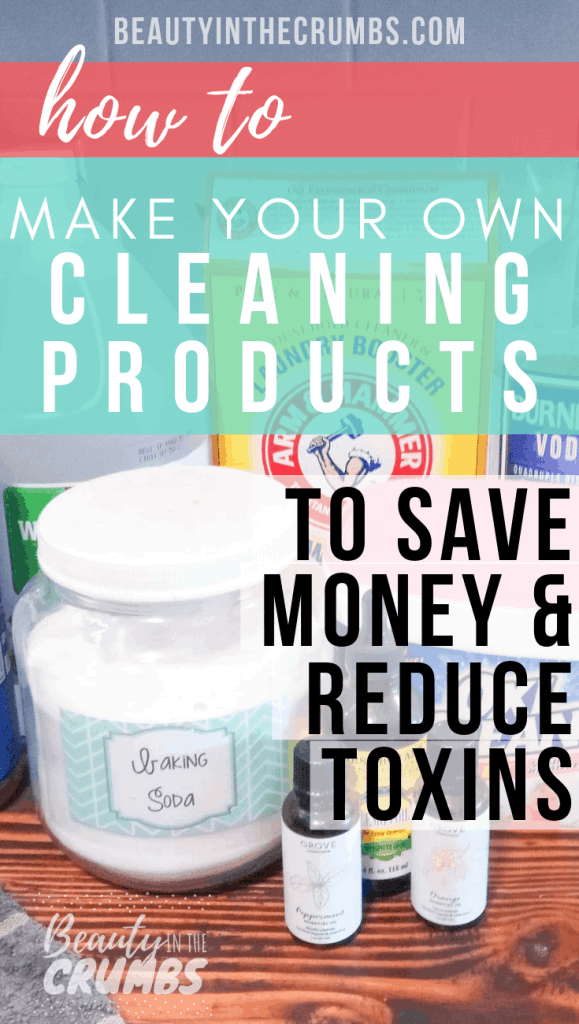 Save a bunch of money and add to your health by learning how to make your own household cleaners! Click to see my tips and hacks to keep my house clean, naturally, while saving money. #ecofriendlycleaning #diycleaning #diyhouseholdproducts #homemadecleaning #nontoxichome