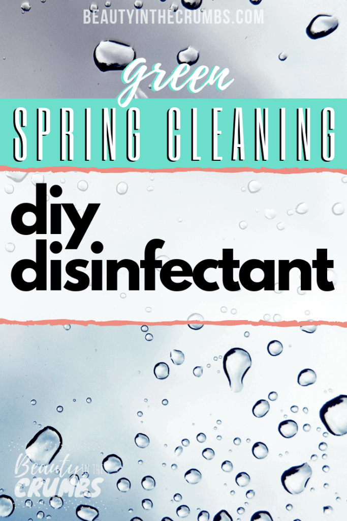 Learn how to make this DIY Disinfectant that is all natural, non toxic, cheap, and works like Lysol. This spray uses essential oils, white vinegar, and alcohol to deodorize, sanitize, and kill mold.