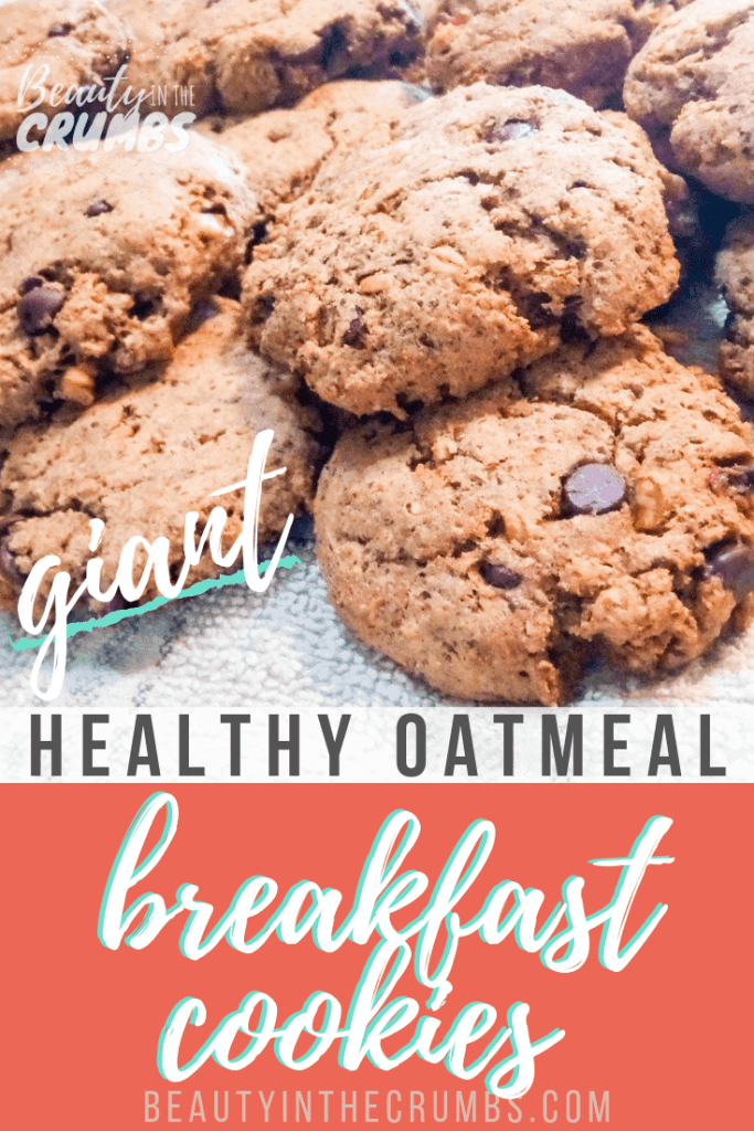 I need a quick and filling breakfast. These breakfast cookies are just that! They're made with soaked oatmeal and are a healthy way to start your day! These breakfast cookies are also gluten free, dairy free, and vegan.   #easybreakfast #glutenfreebreakfast #glutenfreebreakfastcookies #veganbreakfast #dairyfreebreakfast