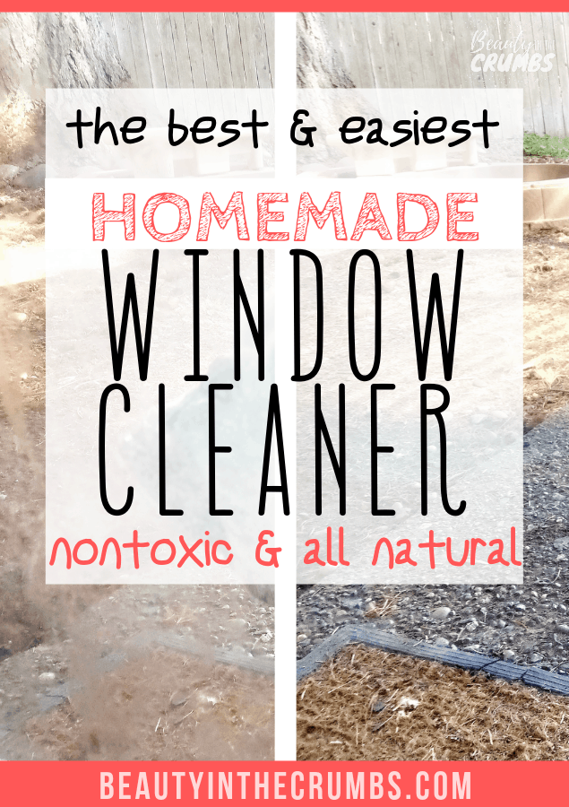 DIY homemade window cleaner that is nontoxic and all natural