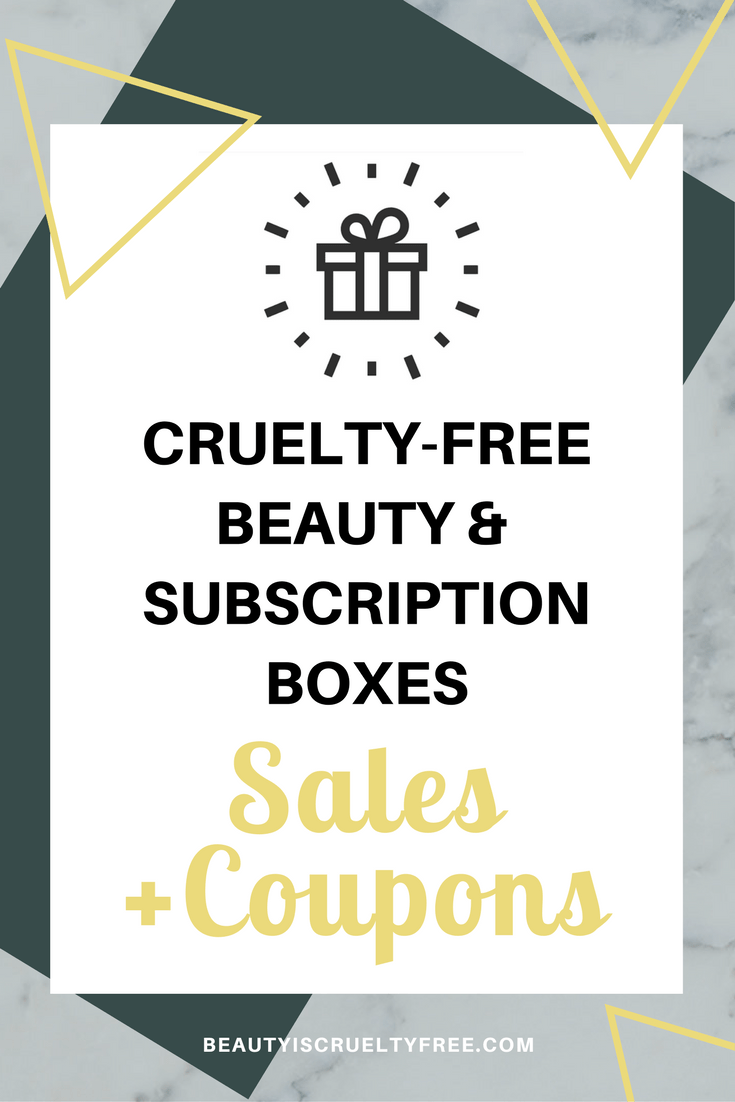 Subscription box sales coupons promocodes - subscription box - directory of cruelty-free beauty brands - Go cruelty-free - vegan subscription box - unboxing subscription box review | beautyisgf123.com