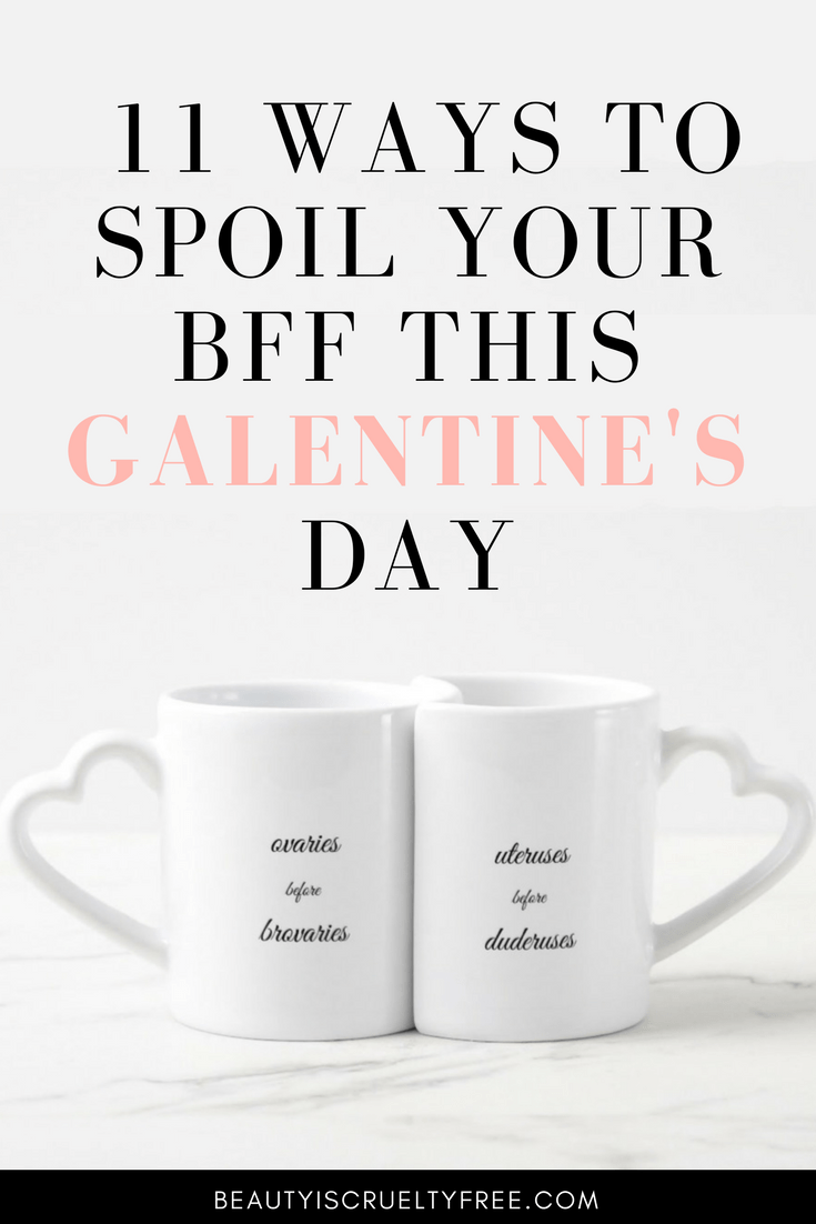 11 Ways to spoil your bff this galentines day Galentines day gifts ovaries before brovaries greeting card | BeautyIsCrueltyFree.com