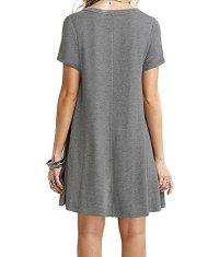 Annigo Girls Dresses A-line Sun Dress for Teens,Grey,X ...