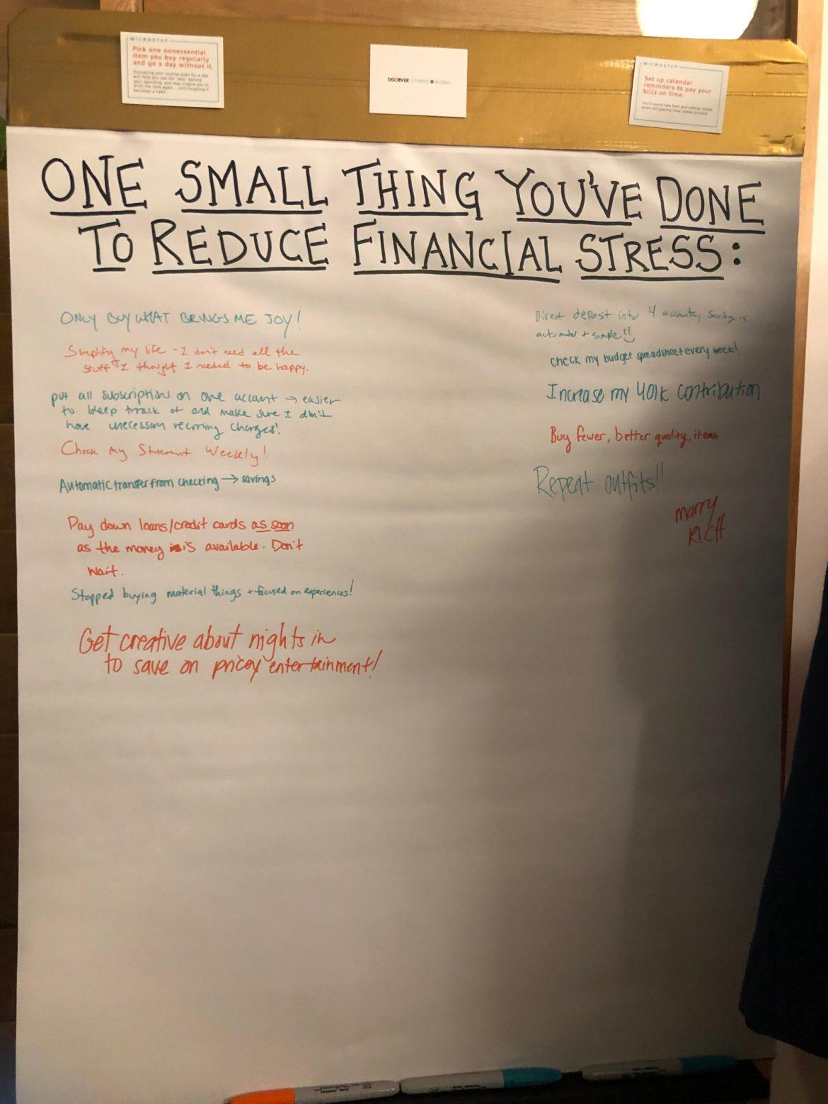 How do you manage financial stress?