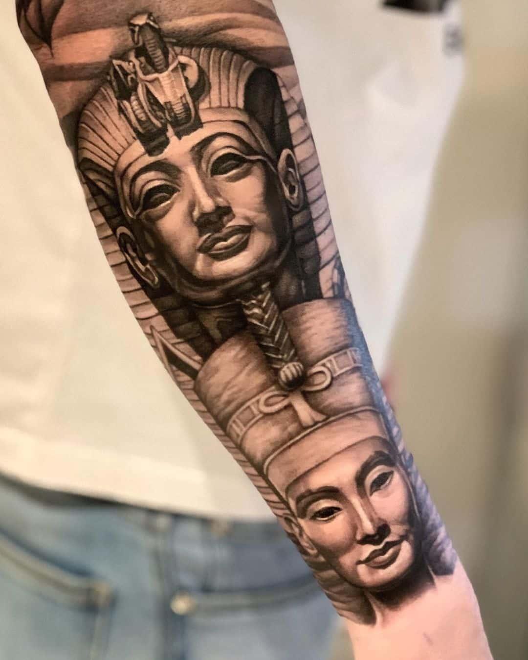 Queen Nefertiti Tattoo Meaning : queen, nefertiti, tattoo, meaning, African, Queen, Tattoo, Ideas, Majestic, Inspiration